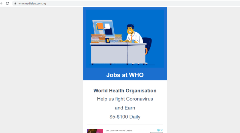 JOB AT WORLD HEALTH ORGANISATION medialaw Reviews